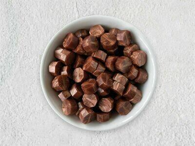 Siegelwachs in Perlen Pfirsich-Kupfer - Granulat