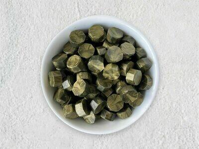 Siegelwachs in Perlen Olivgold - Granulat