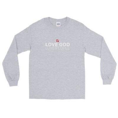 Love God Red Logo Long Sleeve