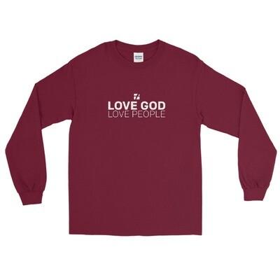 Love God White Logo Long Sleeve