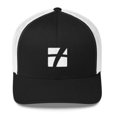 White Logo Trucker Cap