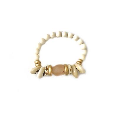 Stackable Bali Shell+Bead Bracelet