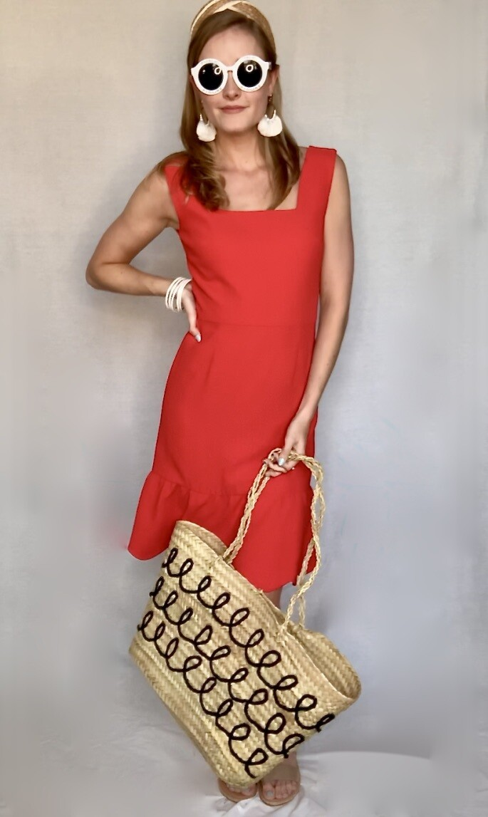 The Stacey Dress in Tangerine