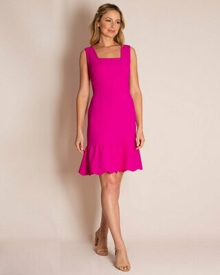 The Stacey Dress in Fuschia