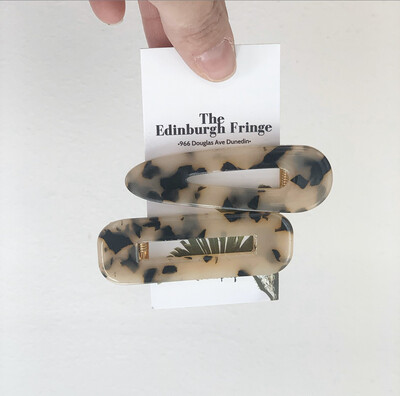 Two Pack Of Blond Tortoise Clips