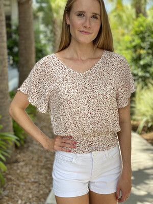 Size: Med The Poppy Tie Back Top