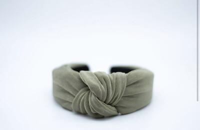 Cameron Knotted Headband Olive