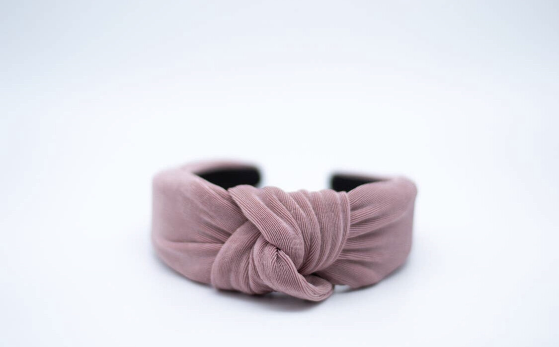 Cameron Knotted Headband Dusty Rose