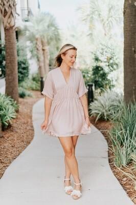 Size: Large Bianca Dress in Pink Petal