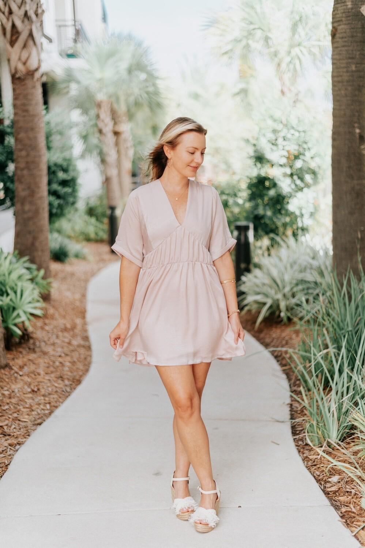 Size: Medium Bianca Dress in Pink Petal