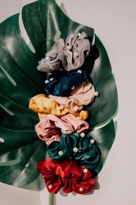 Satin & Pearl Scrunchies