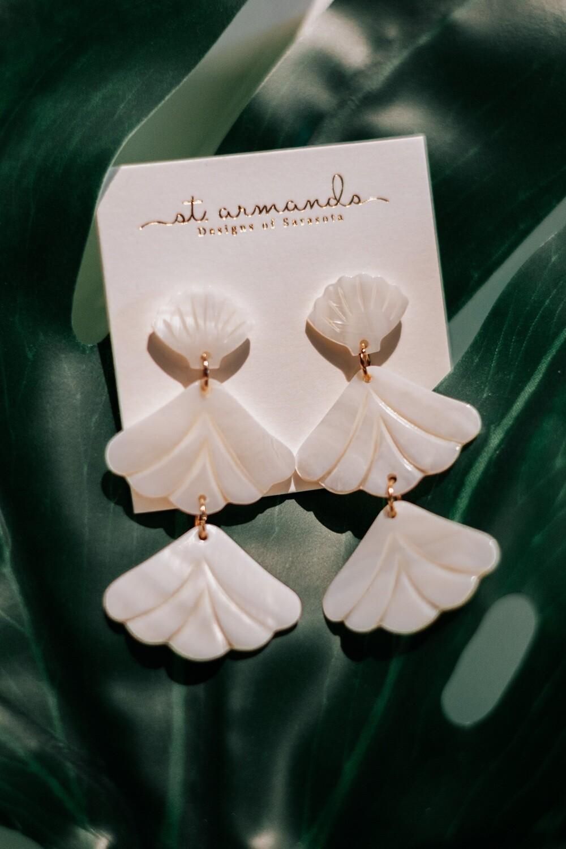 Ocean White Drop Earrings