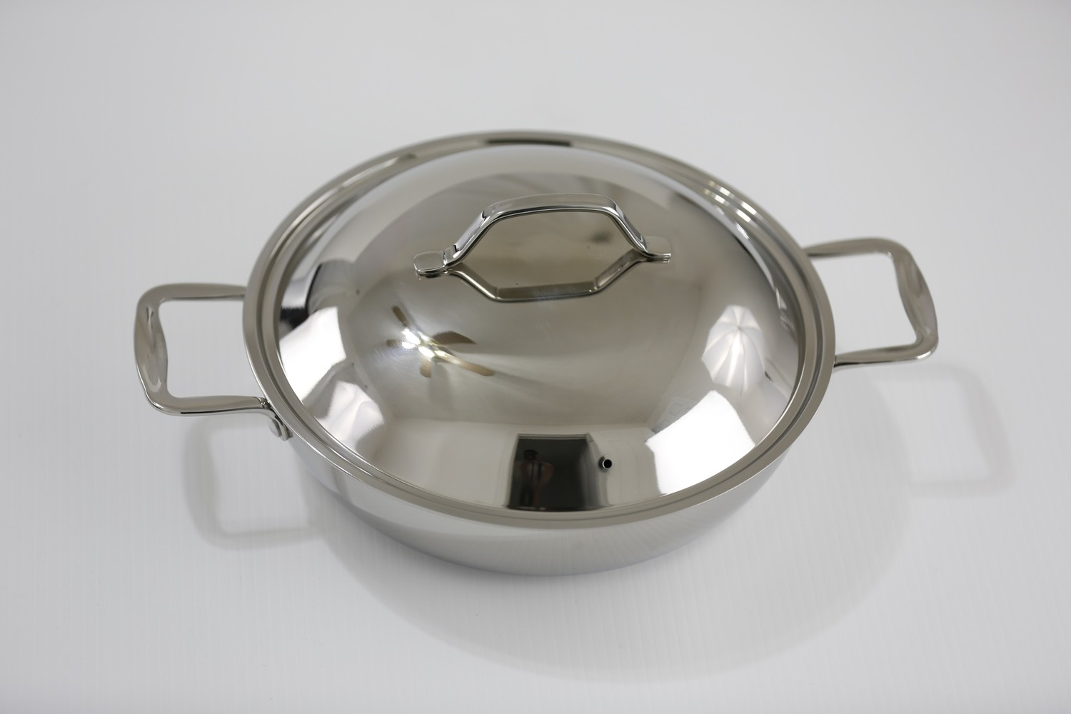 """SS1-10.24"""" Stainless Steel Everyday Pan with Dome Cover"""