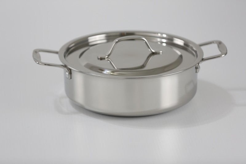 Stainless Steel Rondeau Pan (brazier/brasier) with stainless steel Cover