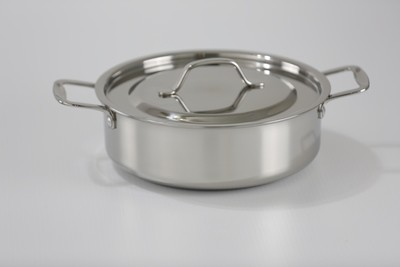 SS1 - 3.17 Qt. Stainless Steel Sauteuse Pan with Cover