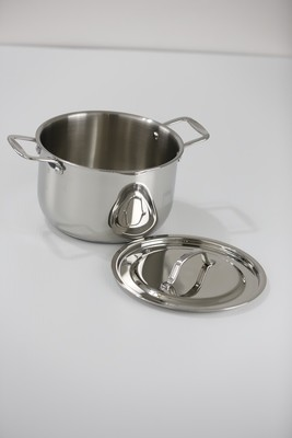 SS1-3.91 Qt. Stainless Steel tri-ply bottom induction Sauce Pot with cover