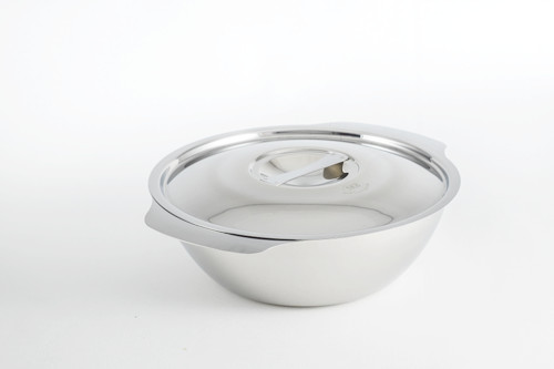 """SS1 4.72"""" Stainless Steel Soup Bowl with Lid"""