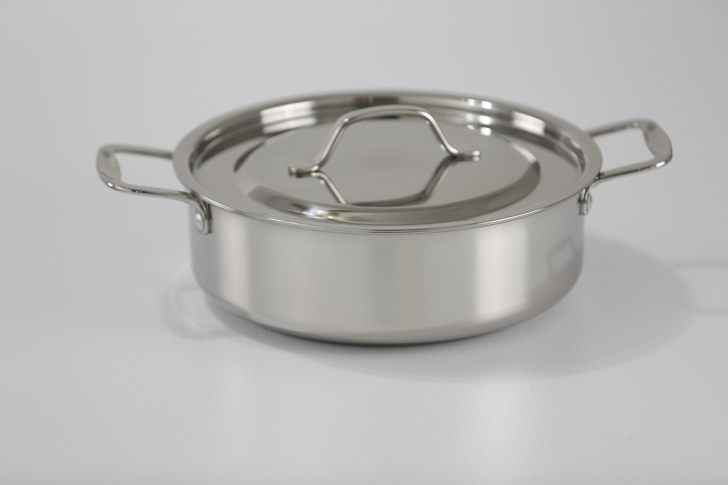 SS1-6.34 Qt. Stainless Steel Sauteuse Pan with cover