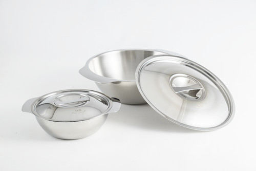 """SS1- 6.3"""" Stainless Steel Soup Bowl with Lid"""