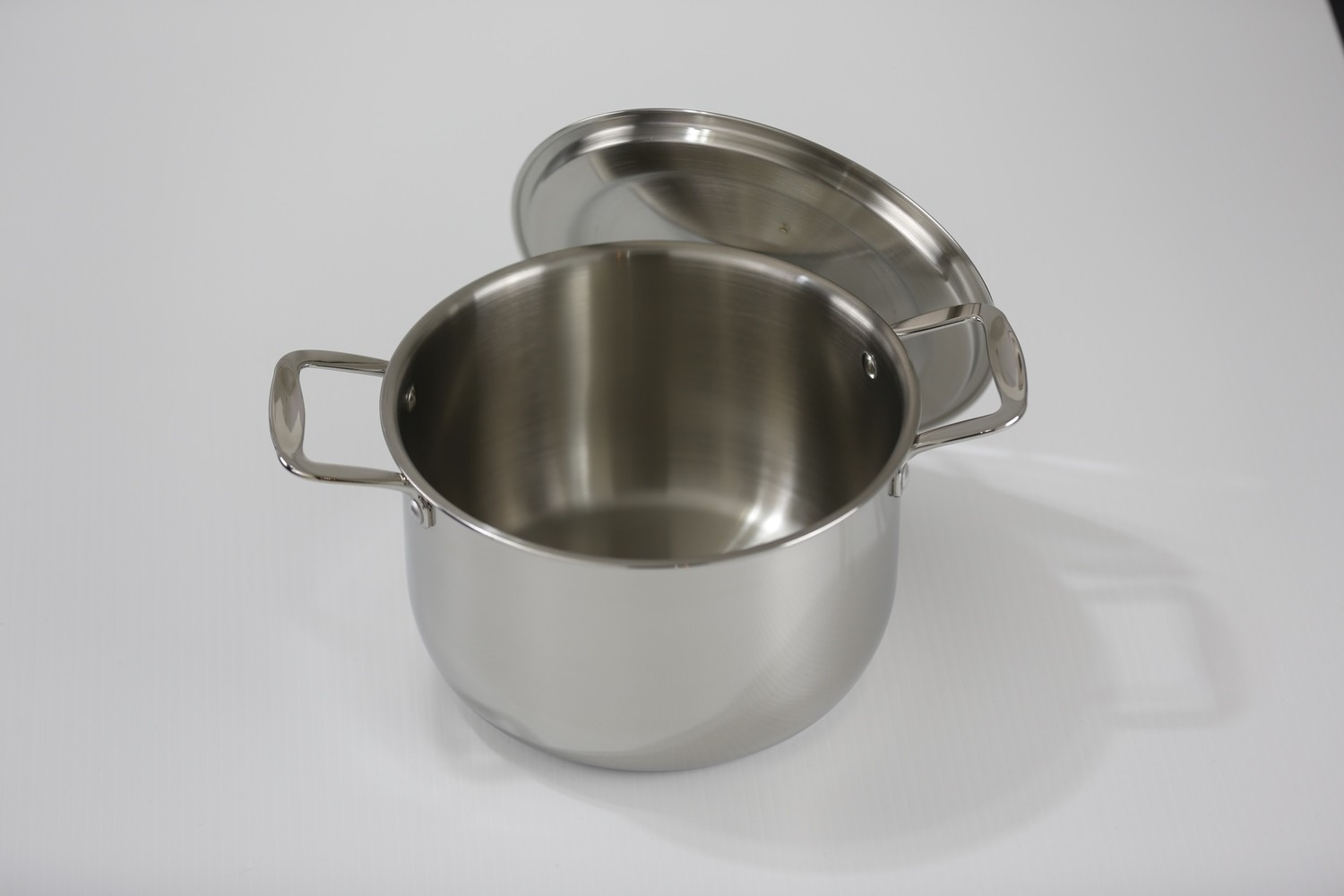 SS1-6.87 Qt. Stainless Steel tri-ply bottom induction Sauce Pot with cover