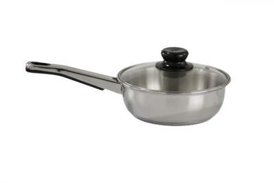 Stainless Steel Sauté Pan / Frying Pan with Glass Lid
