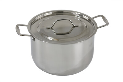 Stainless Steel tri-ply bottom induction Sauce Pot with cover