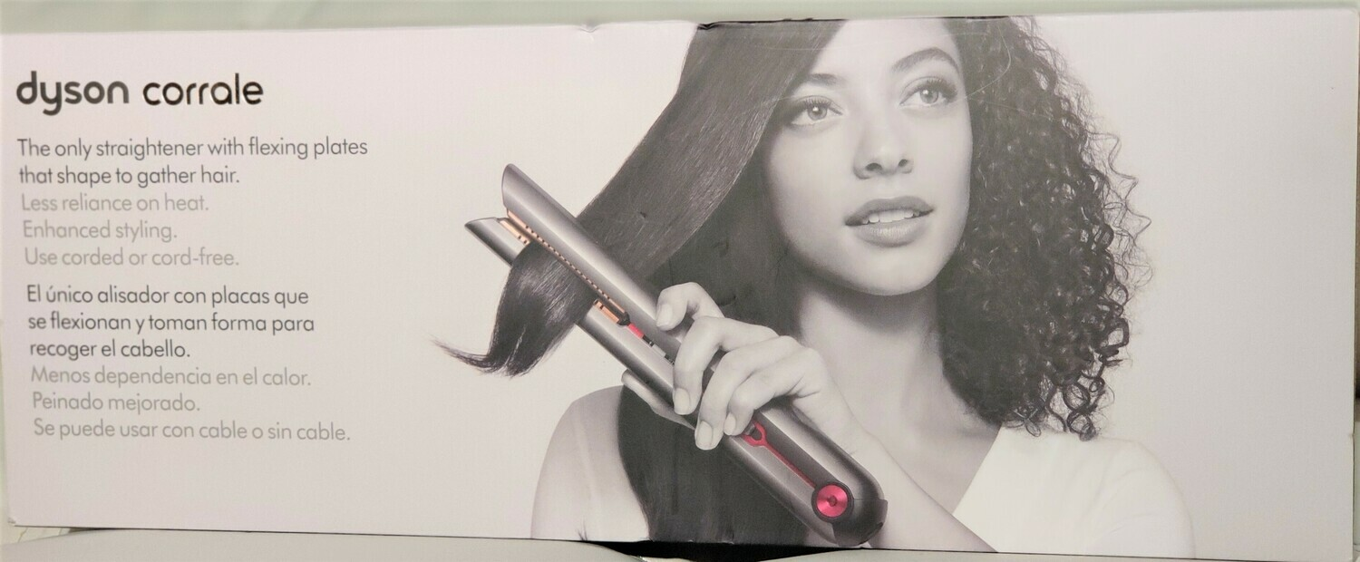 Dyson - Corrale Hair Straightener - Black Nickel/Fuchsia Model:322851-01