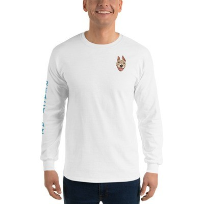Gildan 2400 Ultra Cotton Long Sleeve T-Shirt w/ Sleeve Printing