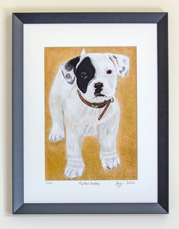 Signed Limited Edition Print 'My Best Buddy' by Karl Loxley