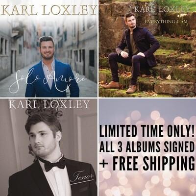 Karl Loxley Signed CD Album Bundle + Free Worldwide Shipping