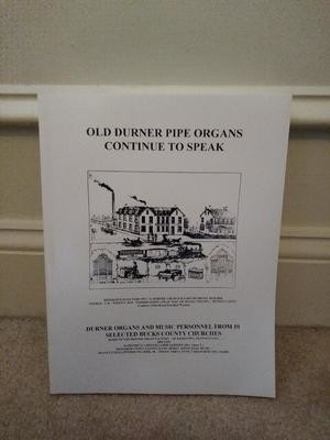 Old Durner Pipe Organs Continue To Speak Book