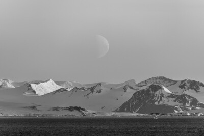 Moonrise over Antarctica - Print