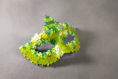 """""""Green Leaves"""" Masquerade Mask"""