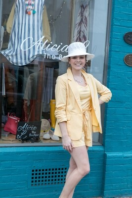 Yellow Shorts with Tie in Front