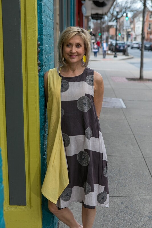 One Size Gray and White Dress
