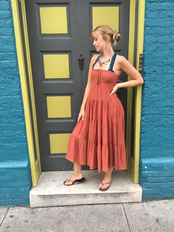 Lush Orange Sleeveless Dress