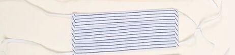 Blue Stripe Cotton Facemask