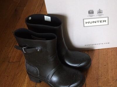 Hunter Boots Short Black Ankle Size 7