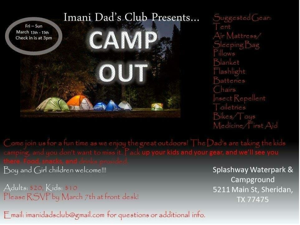 Dad's Club Camp Out - Adult