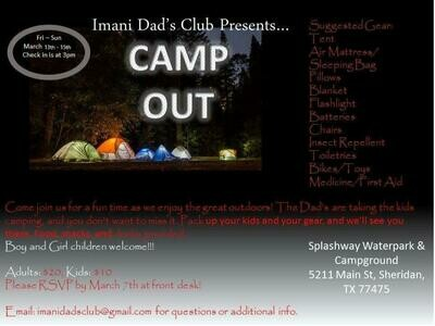 Dad's Club Camp Out - Student