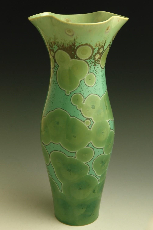 "Green Vase 10 ½"""