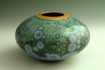 Blue Oval Pot 3 ½