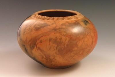 Burnished Pot  4¼