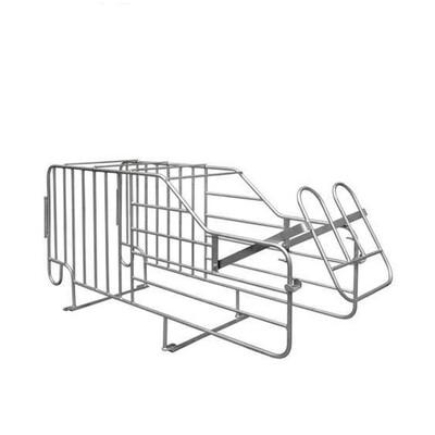 Estructura de cama de parto con comedero