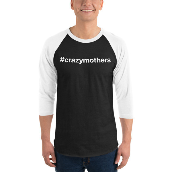 CrazyMothers Unisex Classic 3/4 Sleeve Raglan Shirt