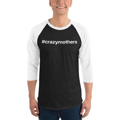 CrazyMothers Unisex Classic 3/4 Sleeve Raglan Shirt