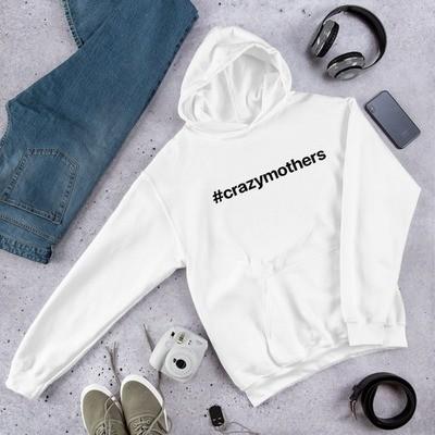#crazymothers Classic Hooded Sweatshirt - Black Font