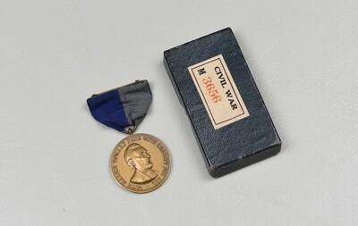 CIVIL WAR CAMPAIGN MEDAL IN ORIGINAL BOX – NUMBERED ORIGINAL, NEAR MINT