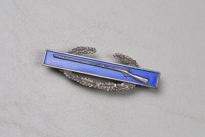 WWII U.S. COMBAT INFANTRY BADGE w/FROSTED REVERSE - STERLING