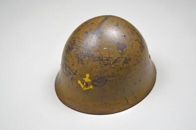 WWII JAPANESE NAVAL LANDING FORCE STEEL HELMET - COMPLETE & EXCELLENT